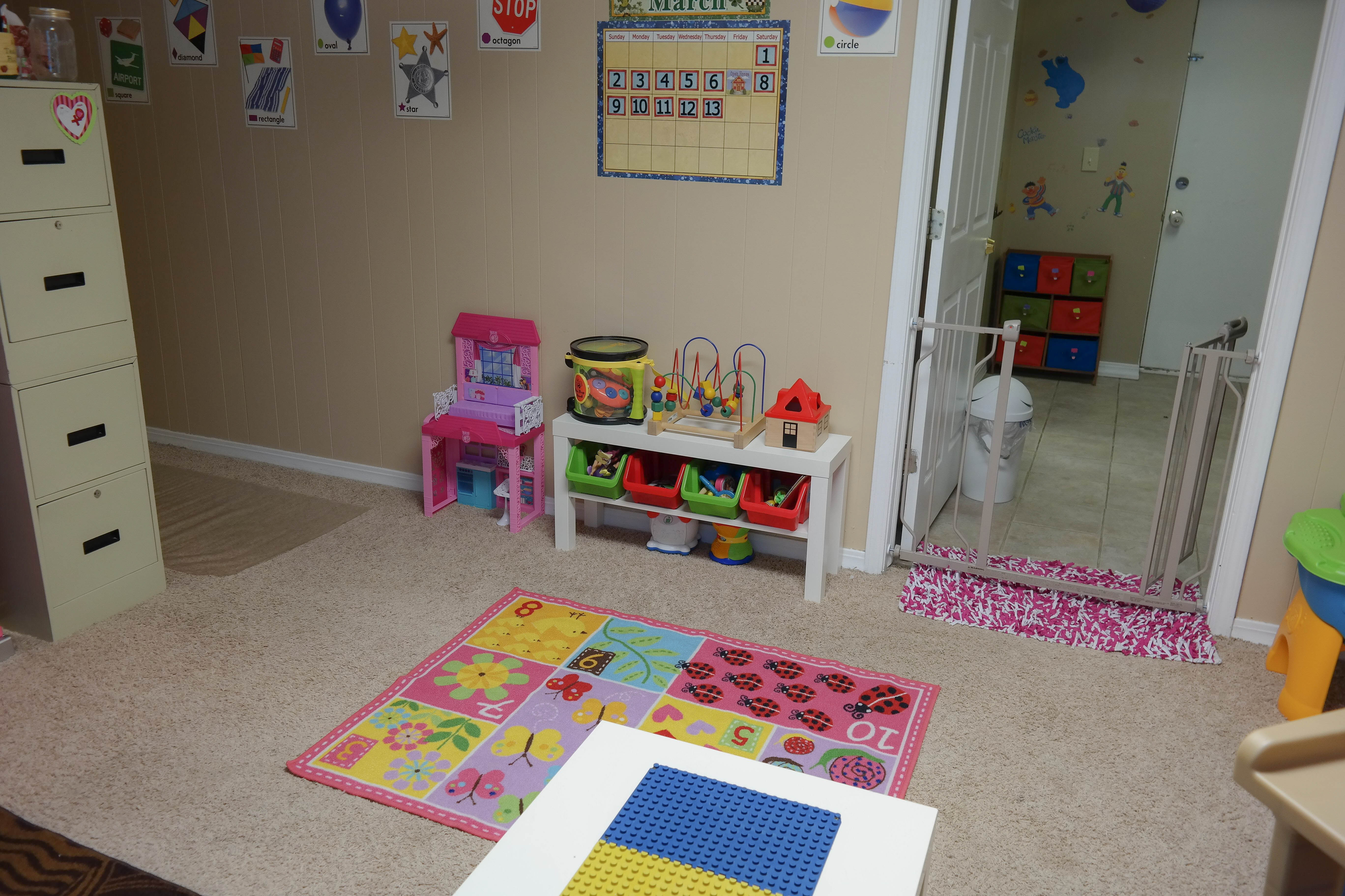 Classroom preschool teacher by day for Kids play area in living room ideas